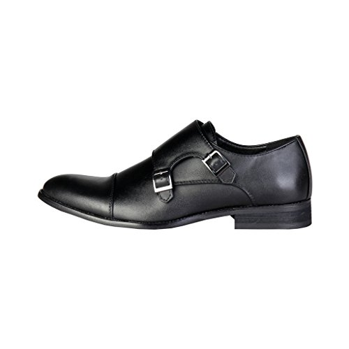 Monje De Negro Zapatos De Cuero Cardin ZD3702 Correa Pierre Hombre wvqUFn8H