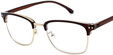 LIUYALE Student Halbbild Halbrand Schutz der Augen Leicht stark und robust High Density polarisiertem Licht Mode klare Linse Gläser Brillenfassungen (Color : Gold)