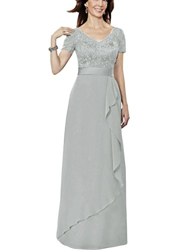 H.S.D Short Sleeves Lace Chiffon Mother Of The Bride Dresses Formal Prom Gowns