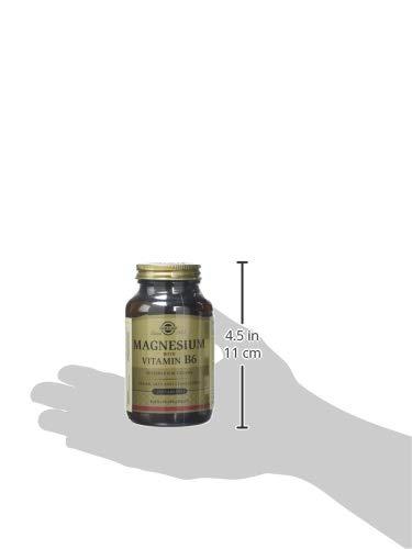 Solgar Magnesio con Vitamina B6-250 Tabletas: Amazon.es: Salud y cuidado personal