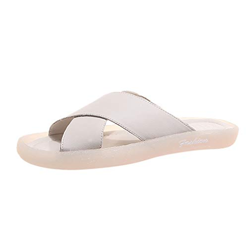 Benficial Summer Fashion Outdoor New Soft-Soled Leisure Slipper Classic Women Sandals Beige