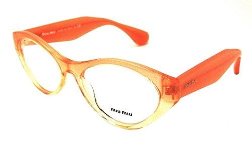 Miu Miu MU03MV Eyeglasses-QFI/1O1 Orange Gradient - Miu Frames Eyeglass