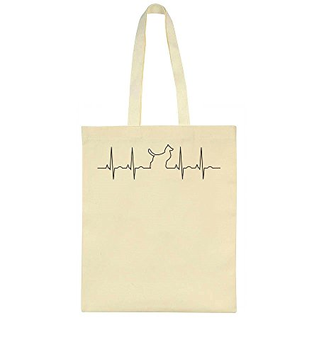 In Dog Silhouette Bag Cardiogram Tote z51SwqZ