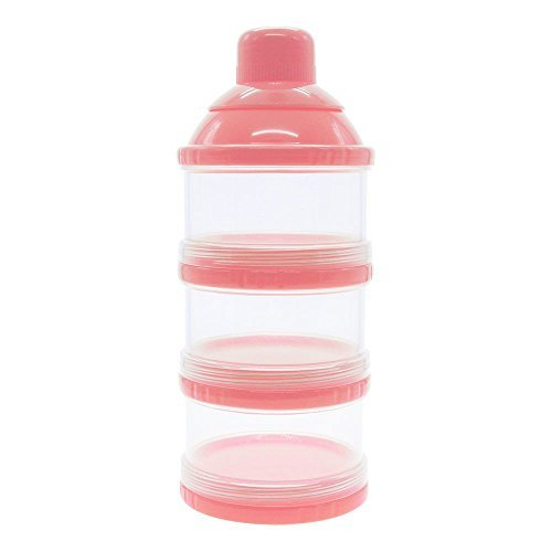 MMRM Nicht-Verschütten 3 Schicht-Babynahrung Milchpulverspender Vorratsdose durch Packung Rosa