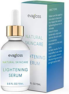 - Lightening Serum with Kojic Acid, Dark Spot Corrector Remover for Face & Body, Natural Gentle Skin Brightening & Bleaching Cream, Lightens Private, Sensitive Areas 15ml by Evagloss