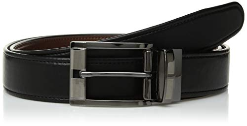 Van Heusen Men's Flex Reversible Dress Belt Swivel, Black, Large