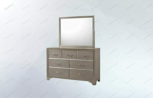 (COLIBROX>>>7 Drawers Dresser Chest &Mirror Set Storage Cabinet Smooth and Chic, This Dresser and Mirror Set Offers Subtle Style to Enhance Your Bedroom's Appeal. This Dresser and Mirror)
