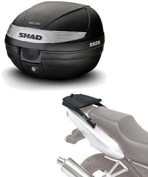 Sh29he114 - Kit fijacion y Maleta baul Trasero sh29 Compatible con Kawasaki er6 n 2006-2008 Kawasaki er6 f 2006-2008 Kawasaki er6n 2006-2008 Kawasaki er6f 2006-2008 Kawasaki er6 n-f 2006-2008