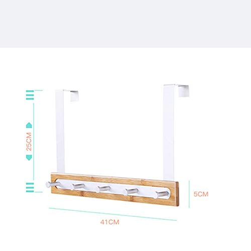 Vikenner Simple Perchero Pared Detras de la Puerta Gancho de La Fila para Almacenamiento ba/ño de Hall de Entrada Toalla