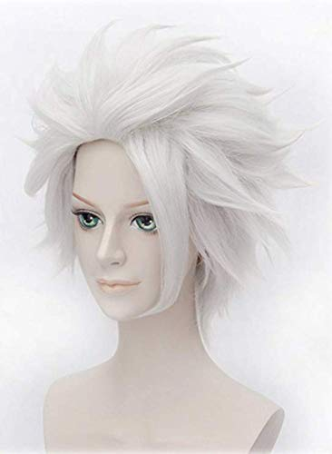 Morvally Ursula Wig Silver Grey Anime Short Layered Cosplay Costume Halloween Wig for Adult and Kids - http://coolthings.us