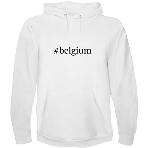The Town Butler #Belgium - Men's Hoodie Sweatshirt, White, Small