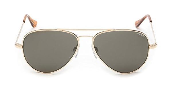 ddd0d848324 Amazon.com  Randolph Concorde 23K Gold Skull Temple Gray Polarized  Sunglasses  Clothing