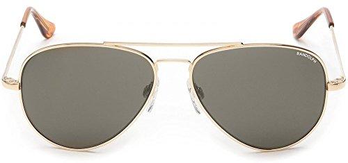 Randolph Temple 23k Skull Gray Concorde Sunglasses Gold Polarized IqrIA