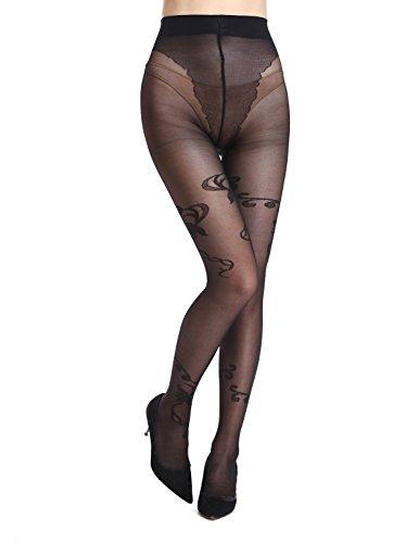 AMORETU Collant Sexy da Donna Nero Nero 13121