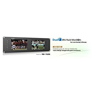 """LILLIPUT RM-7028S Dual 7"""" 3ru Rack Monitors IPS Screens, Viewing Sd, Hd and 3g-sdi Video on 3ru Rack Monitor. Perfect 3g-sdi with Broadcast Quality for Live Events & Shows"""