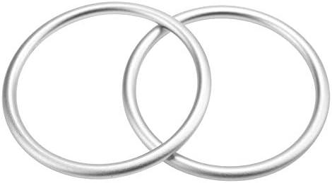 2 STKS Draagdoeken Ringen Baby Katoenen Wikkelring Accessoire Aluminium Ringen voor Baby Ademende Dragen Draagriem