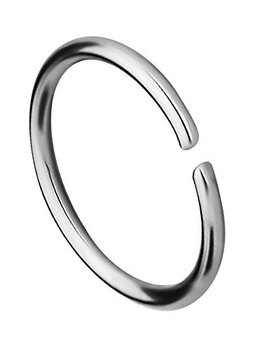 20g 8mm (5/16 Inch) Surgical Steel Seamless Nose Ring & Cartilage Hoop with Comfort Round (Seamless Nose Ring)
