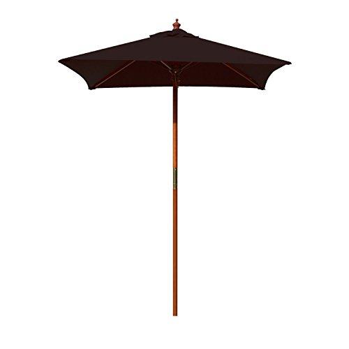 (Above All Advertising, Inc. 4' Brolliz Square Umbrella, Wood (Black))