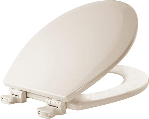 (Bemis 500EC 346 Wood Round Toilet Seat With Easy Clean & Change Hinge,)