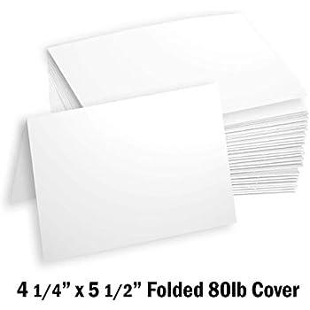 Amazon.com: Hamilco White Cardstock Thick Paper Blank ...