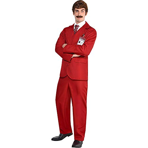 Party City Ron Burgundy Halloween Costume for Men, Anchorman, Includes Accessories ()