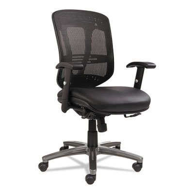 Alera Eon Series Multifunction Mid-Back Leather/Mesh Chair