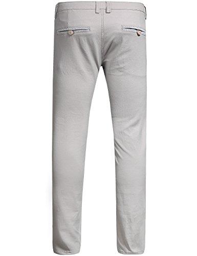 Slim Élastique Sslr Fit Pantalon Casual Gris Homme Uni FXAEqw7