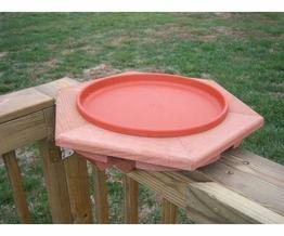 Songbird Essentials SE501 Cedar Heated Deck Bird Bath (Set of (Heated Birdbath Deck)