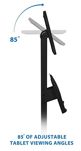 Tablet iPad Floor Stand Kiosk Mount Standing Tablet Holder, Anti-Theft, Anti-Tamper, Lockable Enclosure with Catalogue Holder for Apple iPad 2, 3, 4, Air and Screen Sizes 9.7 In by Mount-It! (Image #6)