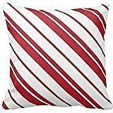 Candy Cane Mint Red And White Striped Pillow Cover For Living Room, Sofa, Etc