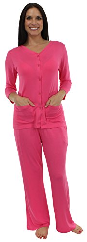 bSoft Solid Pink Lounger Pajama Set