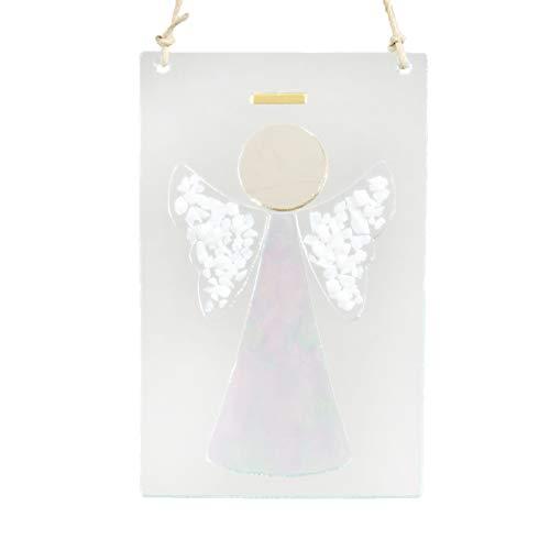 J Devlin Orn 236 Clear Fused Glass Angel Ornament or Sun Catcher