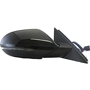 SPIEG - fits Audi A6 2012 2013 2014 2015 2016 2017 Side Mirror RH, Power, Heated Glass, w/Turn Signal Light, Power Folding, w/Blind-Spot Monitoring System, Black, Passenger, Right - 4GD857410B01C