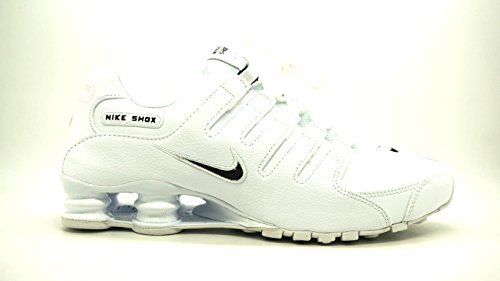Nike Men's Shox NZ Running Shoe White / Black - White - 7.5 D(M) US