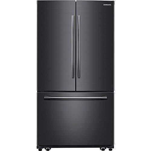 (Samsung Fingerprint Resistant Black Stainless Steel French Door Refrigerator)