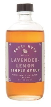 ROYAL ROSE Organic Lavender Lemon Simple Syrup, 8 OZ (Coffee Lemon Organic)