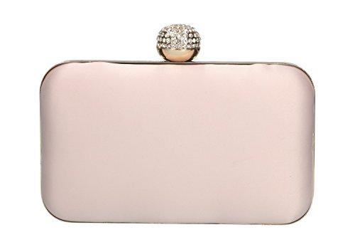 Geldbeutel frau MICHELLE MOON pochette rosa Zeremonie metallic Öffnung N1053