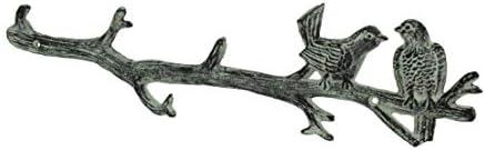 SPI - Perchero de Pared (Hierro Fundido), diseño de pájaros ...