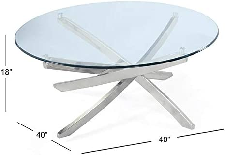 Cheap Magnussen Zila Round Cocktail Table living room table for sale