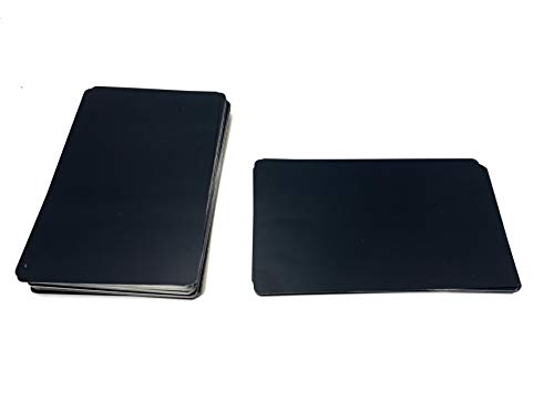 Malayan - 100 Anodized Black Aluminum Business Card Blanks - Laser Engraver and CNC engraving