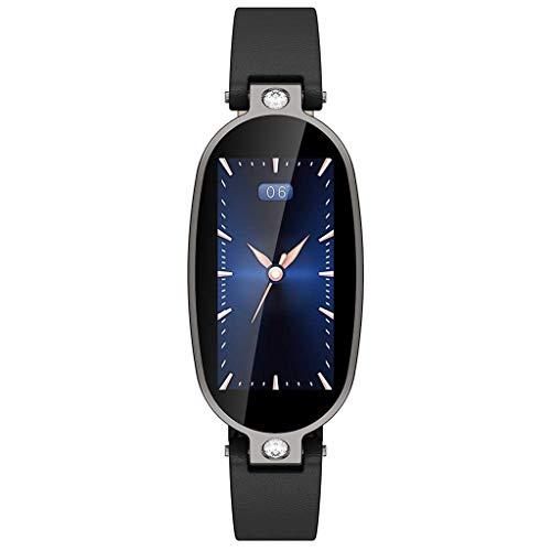(MChoice❤️B79 Female Smart Bracelet Fitness Tracker PPG ECG Sleep Monitoring Call Reminder (Black))