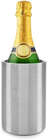 Weinkühler Dimono Flaschenkühler Thermo Sektkühler aus Doppelwandigen gebürsteten Edelstahl für Sekt, Wein und Co.