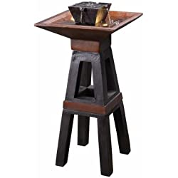 Kenroy Home 51024COPBRZ Kyoto Indoor/Outdoor Floor Fountain with Light, 41 Inches High, Copper and Bronze Finish