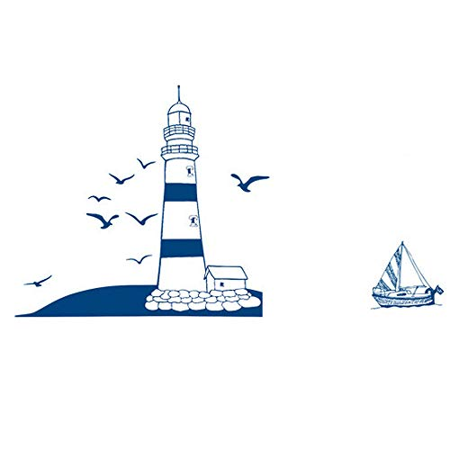 DNVEN Lighthouse Seagulls Stickers Nautical