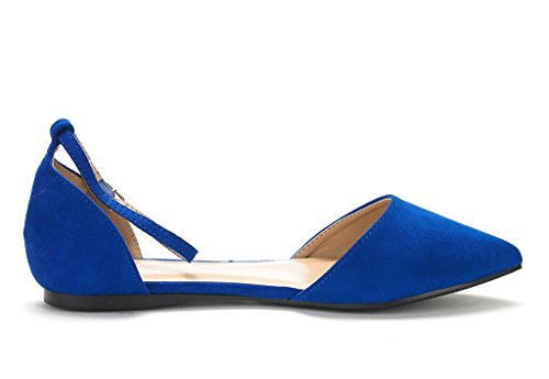 DREAM PAIRS Damen FLAPOINTED-New D'Orsay Ballerinas Schuhe Königsblau