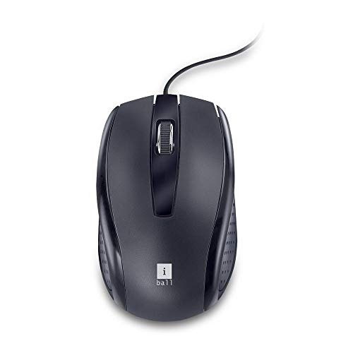 iBall Style 63 Wired USB Optical Mouse (Black)