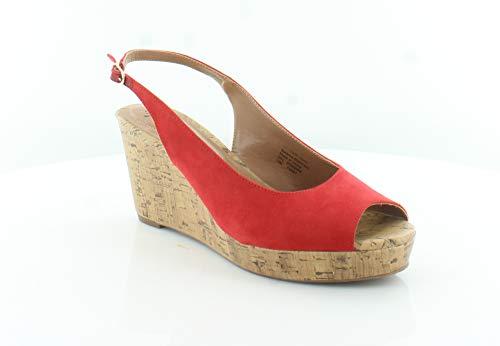 - Style & Co. Womens Sondire Peep Toe Casual Slingback Sandals, Cerise, Size 10.0