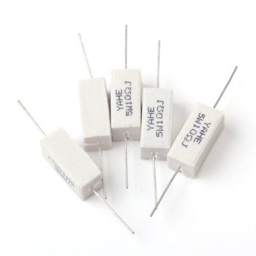 10pcs 5w 10 Ohmios Resistencias Potencia de Cerámica Generic STK0114006260