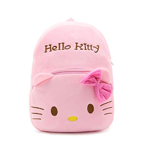 Kids Plush Backpack Baby Boys Girls Cute Cartoon Animal Shoulder Bags for Children fit for 4-6Y(light pink Hello Kitty) -