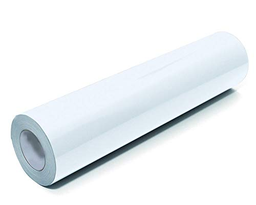 Removable White Glossy Adhesive Outdoor Vinyl Sheets12 Inch x 10 Feet by LinkedGo ()